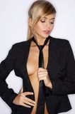 Black Sexy Tie Stock Image
