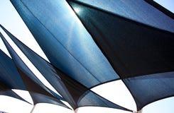 Black shades background. Some black triangle sunshade under sunny Royalty Free Stock Photos