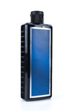 Black shampoo bottle. For men in isolated background Stock Photo