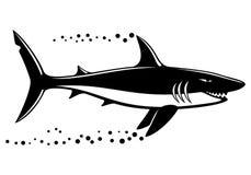 Black shark sign. Royalty Free Stock Photos
