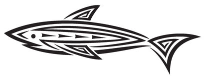 Black shark tattoo for design Royalty Free Stock Image