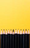 Black Sharp Wooden Pencils Royalty Free Stock Image