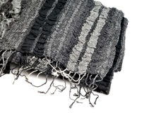 Black shawl Royalty Free Stock Photo