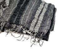 Black shawl. Isolated on white background Royalty Free Stock Photo