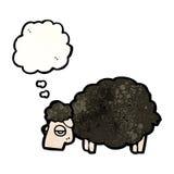 black sheep cartoon Stock Photo