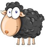 Black sheep cartoon Royalty Free Stock Image