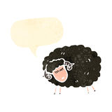 black sheep with speech bubble Royalty Free Stock Image