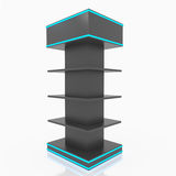 Black shelves Royalty Free Stock Image