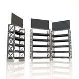 Black shelves truss Royalty Free Stock Images