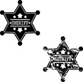 Two sheriff badges Stock Images