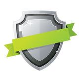 Black shield Stock Photography