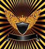 Black shield Royalty Free Stock Photos