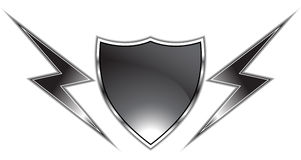 Black Shield Royalty Free Stock Photos