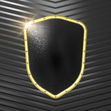 Black shield Royalty Free Stock Images