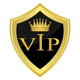 Black shield with the inscription VIP Royalty Free Stock Photos