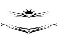 Black shield logo Stock Images