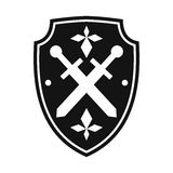 Black shield simple icon Stock Image