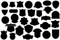 Black Shields Set, shield pattern royalty free illustration