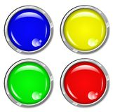 Black Shiny Button Set Royalty Free Stock Images