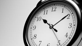 Black Shiny Clock. Close up Black Shiny Clock stock illustration