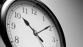 Black Shiny Clock. Close up Black Shiny Clock Stock Photos