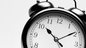 Black Shiny Clock. Close up Black Shiny Clock Royalty Free Stock Photography