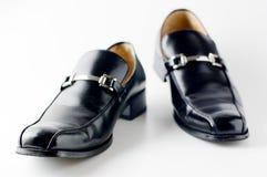 Black shiny man. Close-up photography Royalty Free Stock Photos
