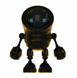 Black shiny robot Stock Images