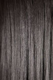 Black shiny straight hair Stock Photo