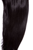 Black shiny straight hair Stock Photos
