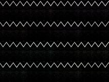 Zigzag Lines on Black T-shirt Stock Photography