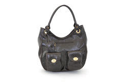 Black shiny women bag Royalty Free Stock Images