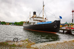 Black ship Stock Photo