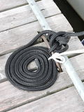 Black ship rope Royalty Free Stock Image
