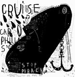 Black ship Royalty Free Stock Photography