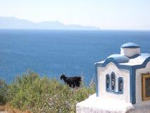 Black Ship watching the Sea. Kos Island - Greece stock image