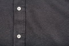 Black shirt with buttons Royalty Free Stock Image