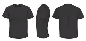 Black Shirt Template Royalty Free Stock Images