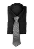 Black shirt with a tie. Royalty Free Stock Image