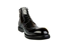 Black shoe. Isolated on the white background Stock Photo