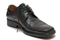 Black shoe. Isolated on white background Stock Image