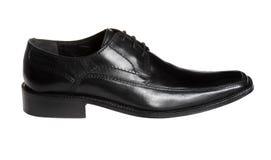 Black shoe. Men's black leather shoe, isolated on white Stock Photography