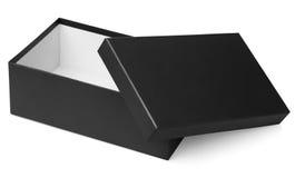 Black shoe box isolated on white Stock Photos