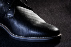 Black shoe - RAW format Royalty Free Stock Photography