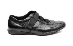 Black shoe isolated Stock Images