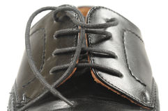 Black Shoe Macro Stock Photography