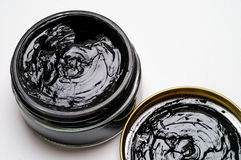Black shoe polish Royalty Free Stock Photography