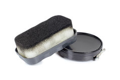 Black shoe polish Stock Images