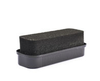 Black shoe polish sponge isolated Royalty Free Stock Image