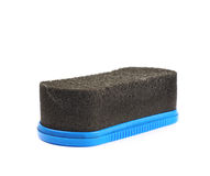 Black shoe polish sponge isolated Royalty Free Stock Photos